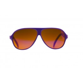 Purple Shiny Aviator BluBlocker Front