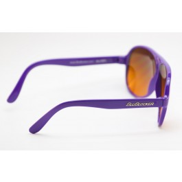 Purple Shiny Aviator BluBlocker Right