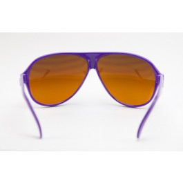 Purple Shiny Aviator BluBlocker Back